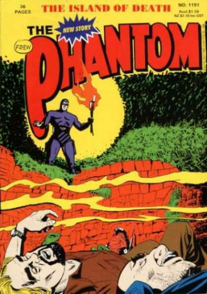 Phantom 1191 - Frew - Torch - Fire - Superhero - The Island Of Death