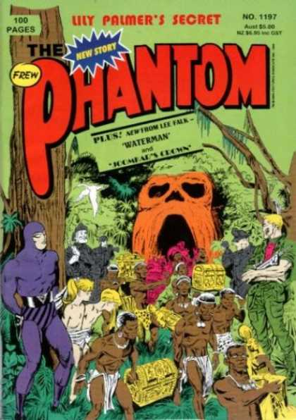 Phantom 1197 - Lily Palmers Secret - Slave Tribe Moving Gold - Skull Cavern - Kids Tied Up - New From Lee Falk