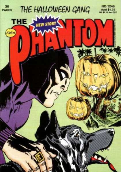 Phantom 1246 - The Halloween Gang - Pumpkins - Jack-o-lanterns - Dog - Woods