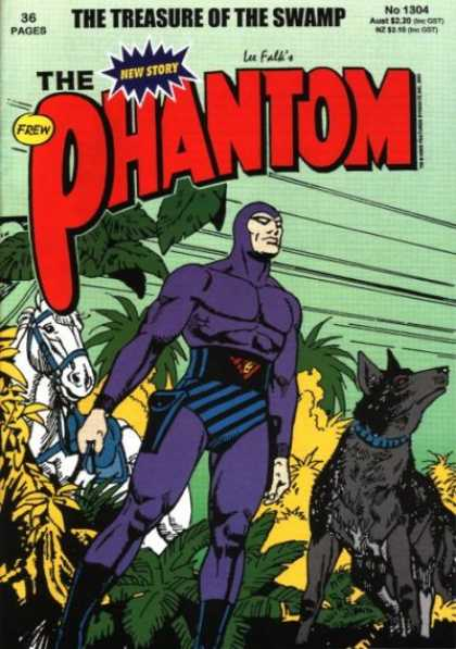 Phantom 1304 - Horse - Jungle - Lee Falls - No 1304 - Man In Purple Outfit - Jim Shepherd