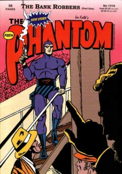 Phantom 1318 - The Bank Robbers - Smoking Gun - Purple Suit - Yellow Hat - Finger Pointer - Jim Shepherd