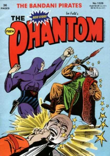 Phantom 1328 - Bandani Pirates - Lee Falk - Punch - Gun - Fight - Jim Shepherd