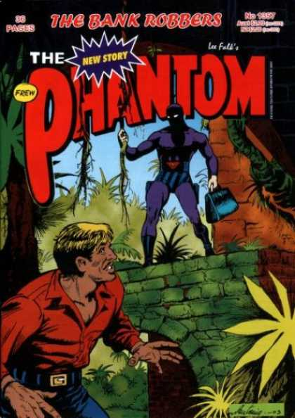 Phantom 1357 - The Bank Robbers - Frew - Lee False - New Story - Brown Man In Forest