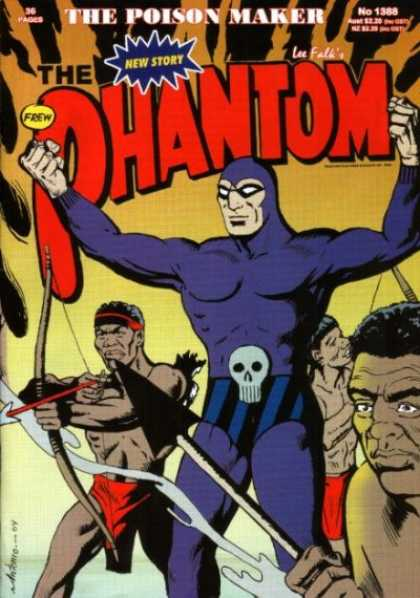 Phantom 1388 - The Poison Maker - African Warriors - Lee Falks Comics - The Man With The Skull Utility Belt - The Purple Hero Of Africa