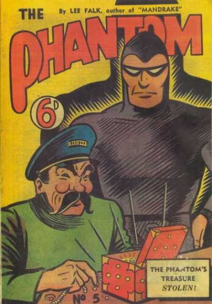 Phantom 5 - Tresure Stolen - Lee Falk - Mandrake - Box - Opened