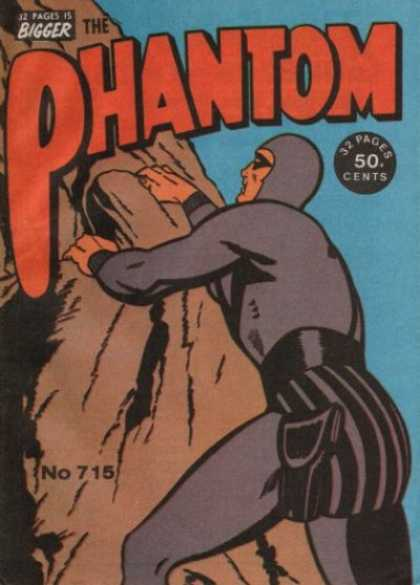 Phantom 715 - Man Climbing Mountain - 32 Page Book - Number 715 Issue - Man Covered In Purple Suit - 50 An Issue