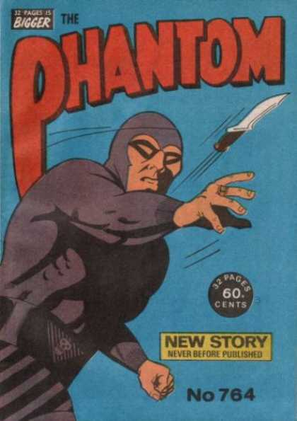 Phantom 764 - 32 Pages Is Bigger - Knife - Costume - Superhero - Never Before Published