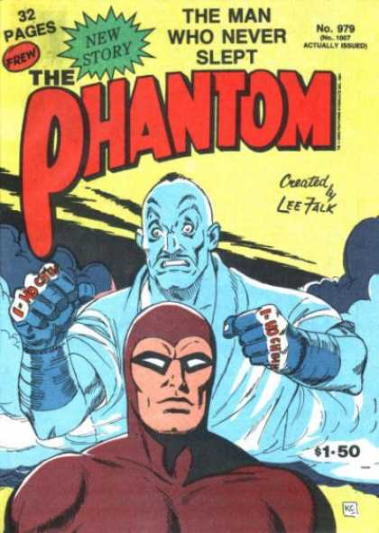 Phantom 979 - The Man Who Never Slept - The Phantom - Lee Talk - Red Suit - Fists
