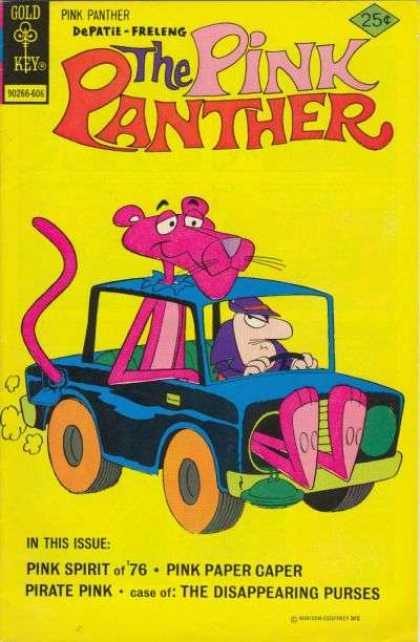 Pink Panther 35 - Panther - Pink - Car - Gold Key - Feet Out