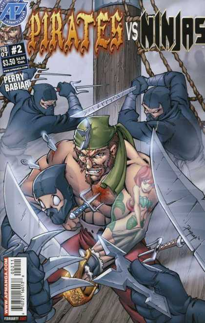 Pirates vs Ninjas 2 - Titan - Sword - Ninja Star - Fighting - Tatto