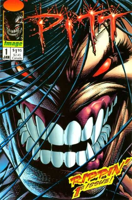 Pitt 1 - Red Eyes - Teeth - Hair - Fang - 1st Issue - Dale Keown