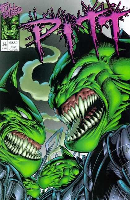 Pitt 14 - Full Bleed - Green - Teeth - Monster - Scary - Dale Keown