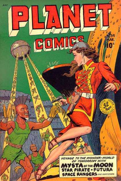 Planet Comics 59 - Sci-fi - Mysta Of The Moon - Star Pirate - Futura - Aliens