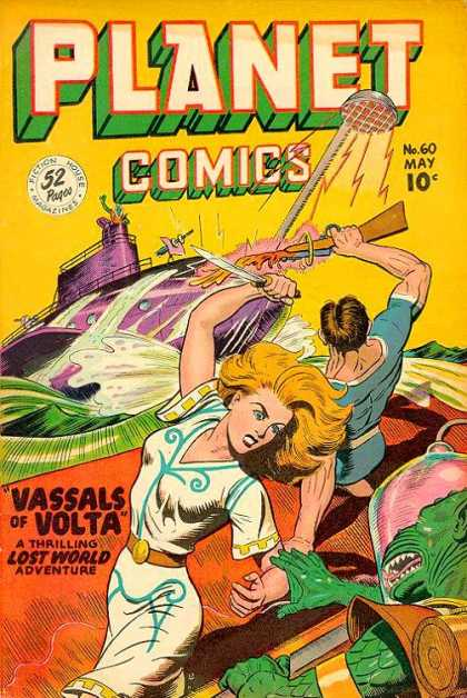 Planet Comics 60 - No 60 May 10c - 52 Pages - Ship - Water - Vassals Of Volta A Thrilling Lost World Adventure