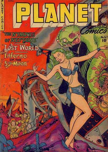 Planet Comics 67 - Skull - Lady - Girl - War
