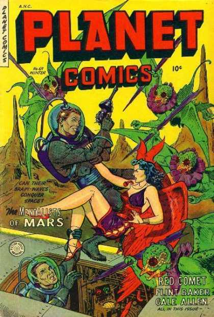Planet Comics 69 - Mentalists Of Mars - Red Comet - Flint Baker - Gale Allen - Femal Martian
