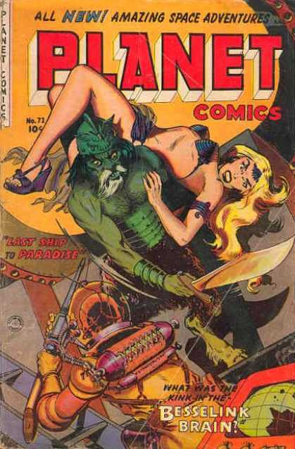 Planet Comics 72 - Golden Age - Planet Comics - Pulp - Bikini - Aliens