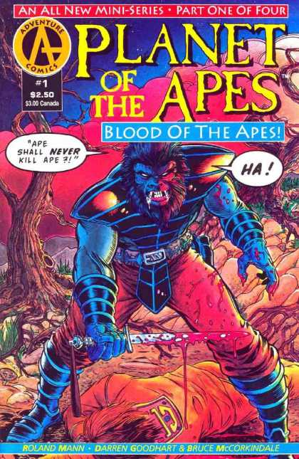 Planet of the Apes: Blood of the Apes 1 - Ape Shall Never Kill Ape - Bloody Knife - Roland Mann - Darren Goodhart - Bruce Mccorkindale