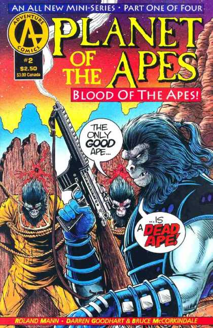 Planet of the Apes: Blood of the Apes 2 - Dead Ape - Smoking Gun - Ponytail - Tied Up - Bullet Hole
