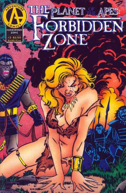 Planet of the Apes: Forbidden Zone 3 - Ape - Fire - Jungle Woman - Crying - Smoke