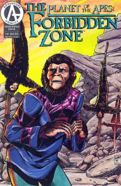 Planet of the Apes: Forbidden Zone 4 - Planet Of The Apes - Adventure Comics - 4 - Forbidden Zone - Crucifixion