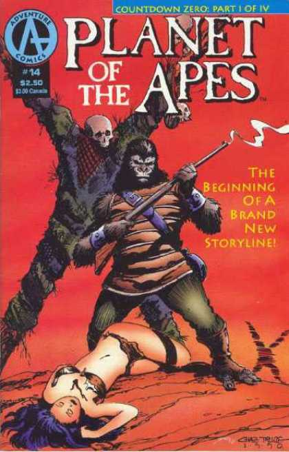 Planet of the Apes 14 - Countdown Zero Part I Of Iv - The Beginning Of A Brand New Storyline - Adventure Comics - Dead Woman - Rifle - Chas Truog, Tom Smith