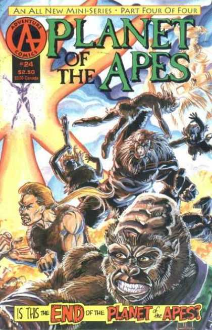 Planet of the Apes 24 - Adventure Comics - An All New Mini Series - Part Four Of Four - Gorilla - Is This The End Of The Planet Of The Apes