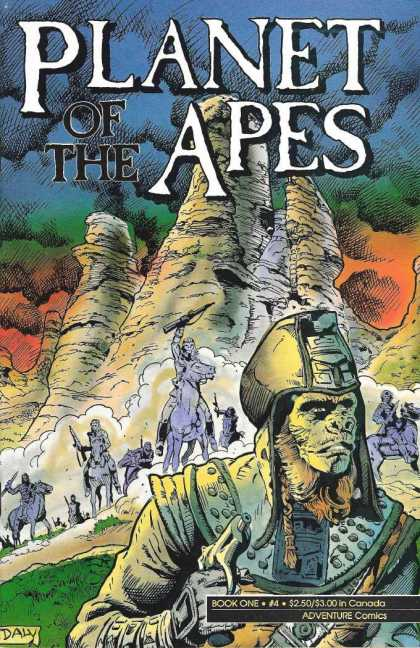 Planet of the Apes 4 - Book One - Adventure Comics - Gun - Mountain - Monkey-man