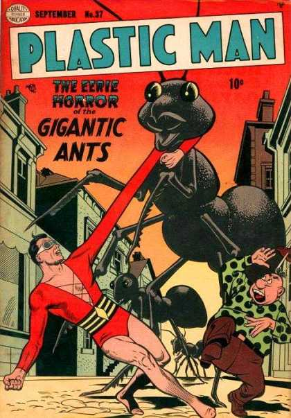 Plastic Man 37 - Giants - Ant - Street - Building - Dusk