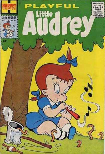 Playful Little Audrey 15 - Little Audrey-the Pied Piper - Dance To The Tune - Music Is For Everybody - Lets Go Fishing - Everybody Loves Little Audrey