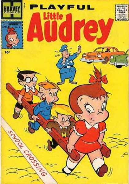 Playful Little Audrey 6 - Cop - Kids - Car - School - Ladder
