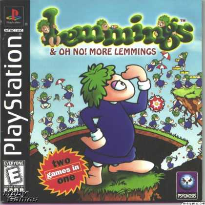 PlayStation Games - Lemmings & Oh No! More Lemmings