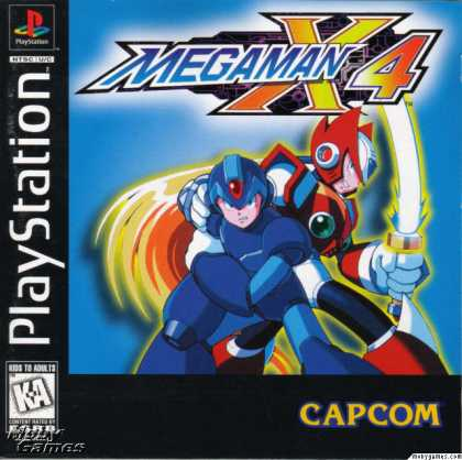 PlayStation Games - Mega Man X4