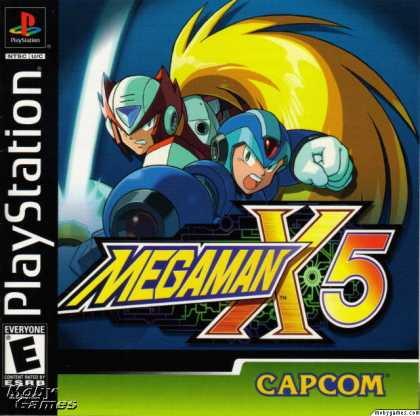 PlayStation Games - Mega Man X5