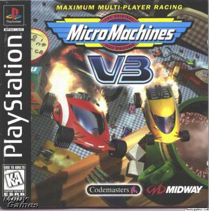 PlayStation Games - Micro Machines V3