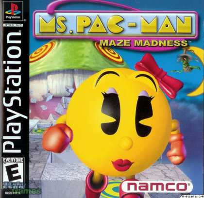 PlayStation Games - Ms. Pac-Man Maze Madness