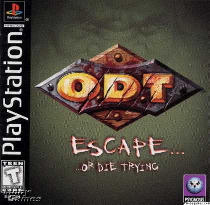 PlayStation Games - O.D.T. - Escape... Or Die Trying