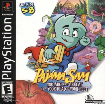 PlayStation Games - Pajama Sam 3: You Are What You Eat From Your Head To Your Feet
