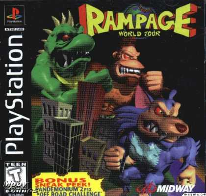 PlayStation Games - Rampage World Tour