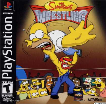 PlayStation Games - The Simpsons Wrestling