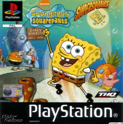PlayStation Games - SpongeBob SquarePants: SuperSponge