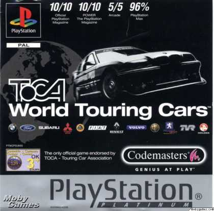 PlayStation Games - TOCA World Touring Cars