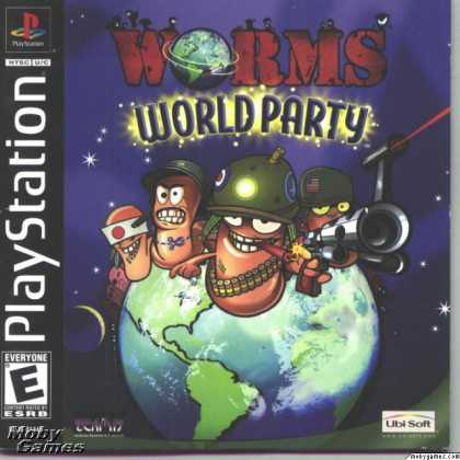 PlayStation Games - Worms World Party