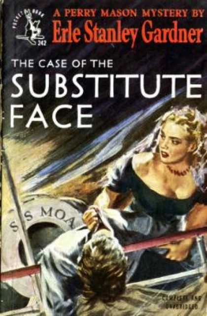 Pocket Books - The Case of the Substitute Face (vintage Pocket Books, #242) - Erle Stanley Gard