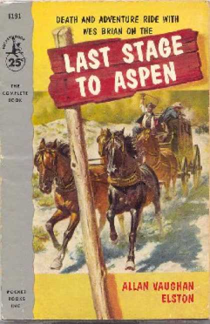 Pocket Books - Last Stage To Aspen - Allan Vaughan Elston