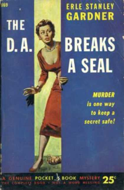 Pocket Books - The D.a. Breaks a Seal (pocket Book #869) - Erle Stanley Gardner