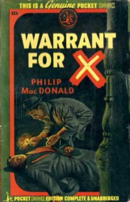 Pocket Books - Warrant for X - Philip Macdonald