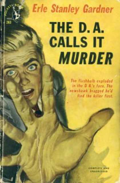 Pocket Books - The D. A. Calls It Murder - Erle Stanley Gardner