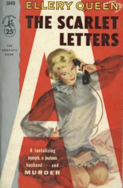 Pocket Books - The Scarlet Letters - Ellery Queen