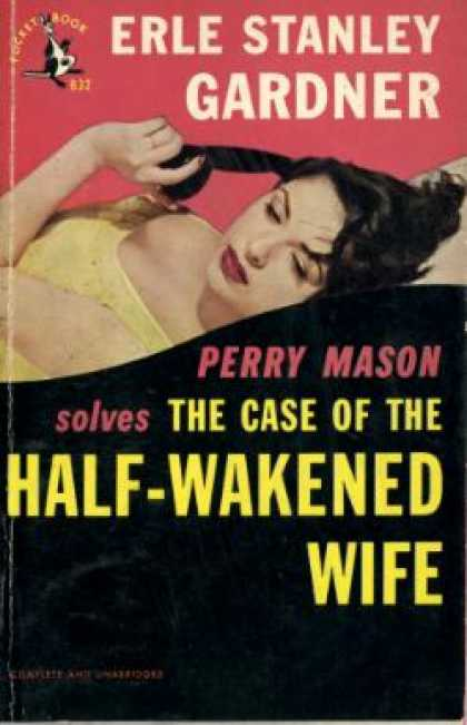 Pocket Books - The Case of the Half-wakened Wife - Erle Stanley Gardner